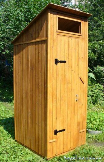 Сделать деревянный туалет фото
