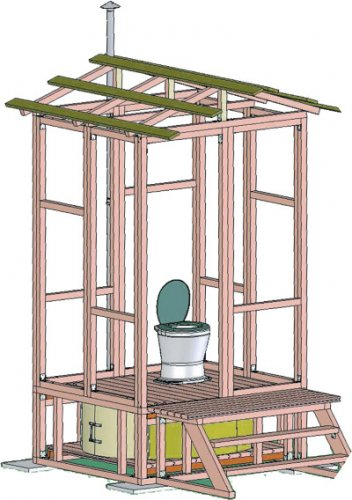 туалет для дачи своими руками фото